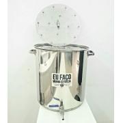 KIT panela cervejeira 50L Inox + Fundo Falso Inox