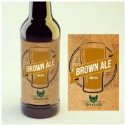 KIT para produção de 20 litros de cerveja do estilo English Brown Ale
