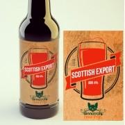 KIT para produção de 20 litros de cerveja do estilo Scottish Export 80