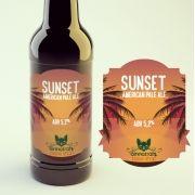 KIT para produção de 20 litros da cerveja Sunset American Pale Ale