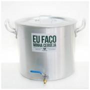 Panela Cervejeira de Alumínio nº 36 com Válvula Extratora de 3/8