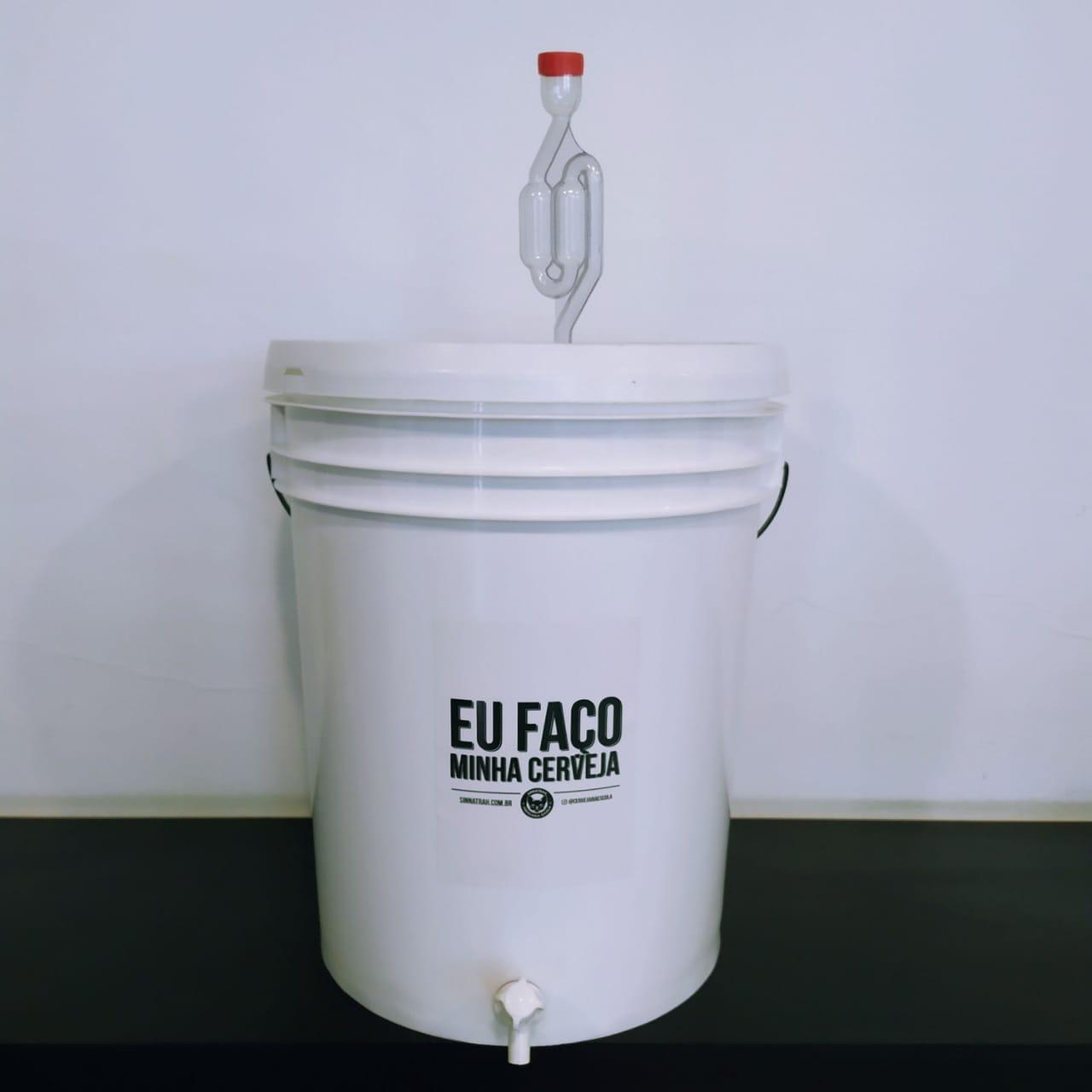 Balde fermentador 22 litros - Completo