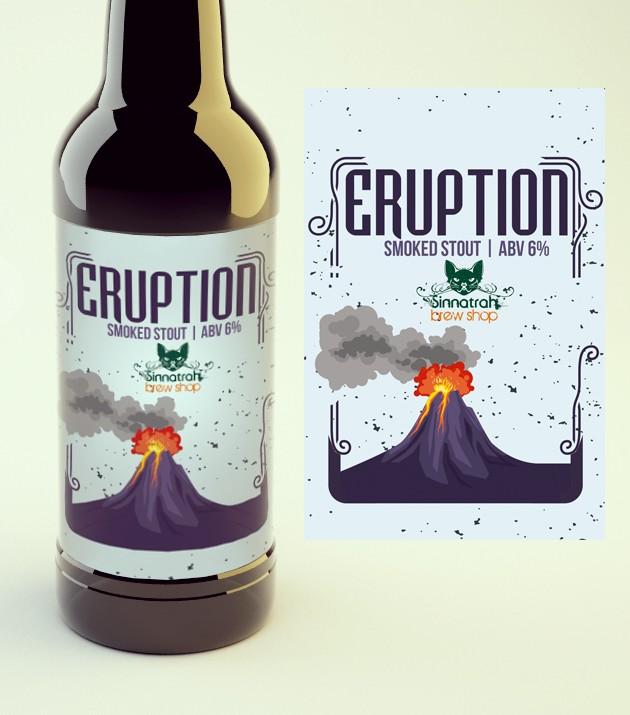 KIT para produção de 20 litros de cerveja Eruption Smoked Stout