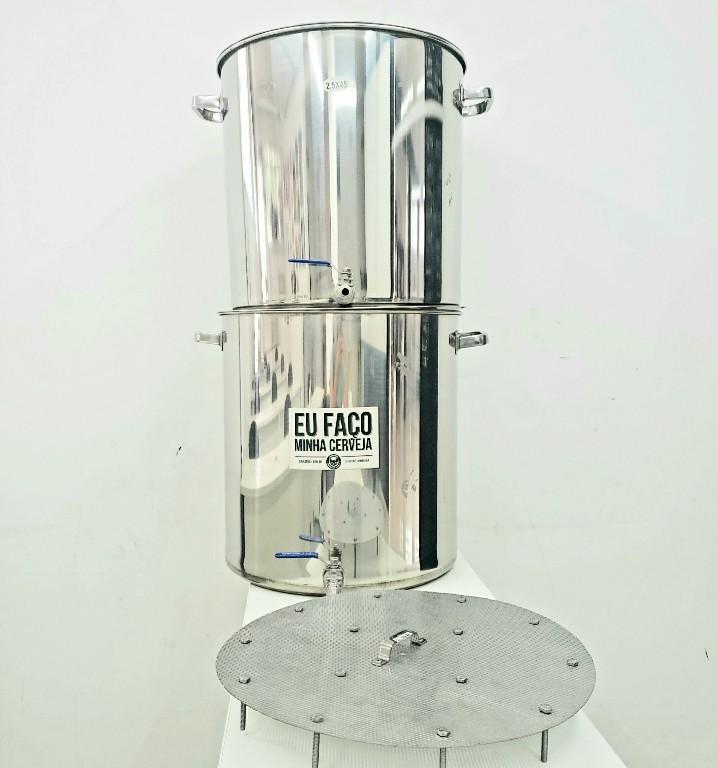 KIT 2 Panelas cervejeiras 50L Inox+ Fundo-Falso Inox