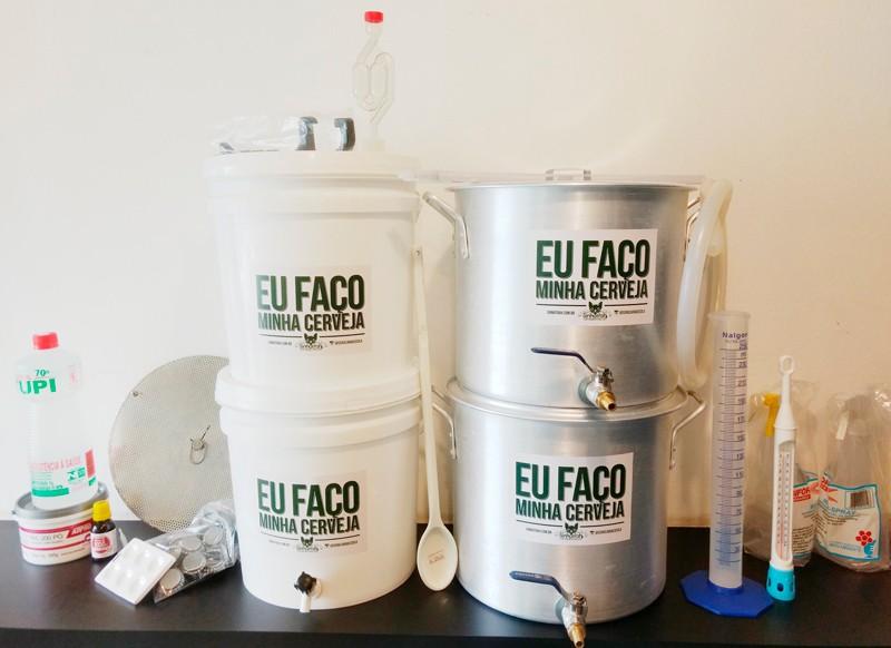 Kit para produção de cerveja 10 litros Fundo Falso - Completo