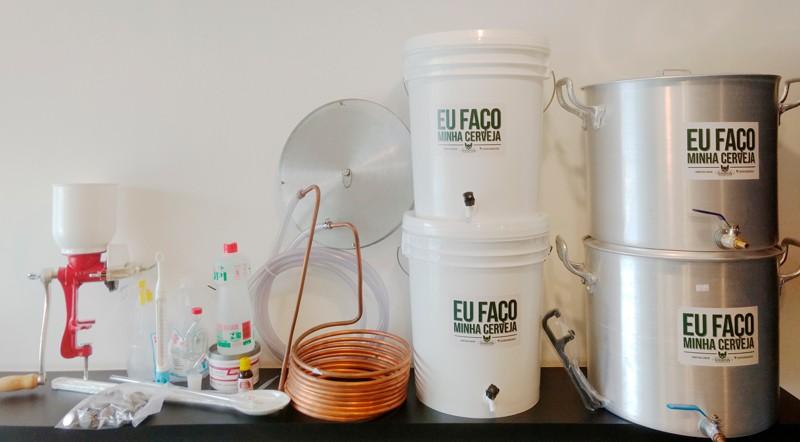 Kit para produção de cerveja 20 litros Fundo Falso - Completo