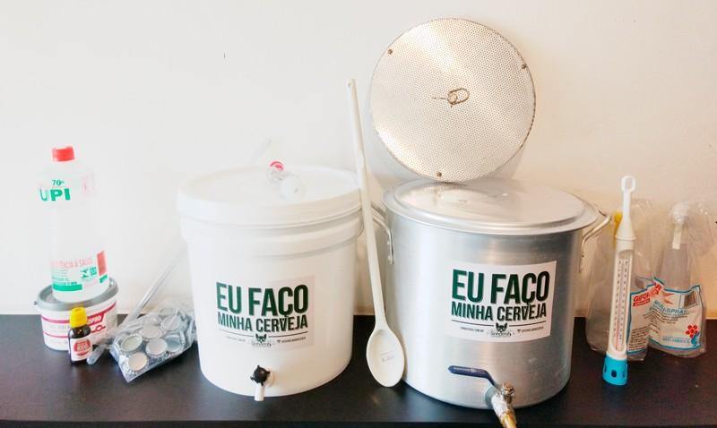 Kit para produção de cerveja 10 litros Fundo Falso - Iniciante