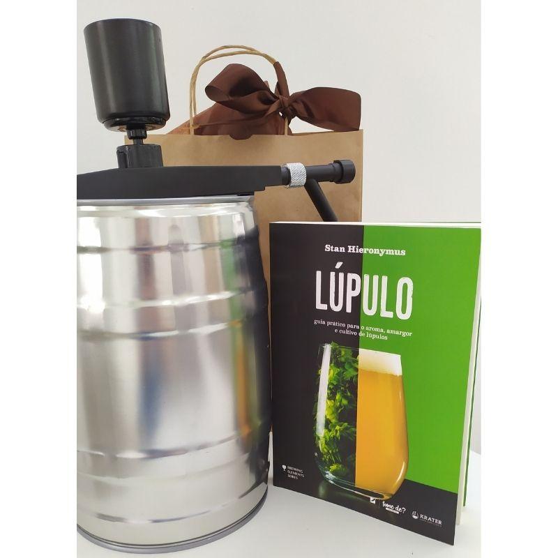 Kit Mini Keg 5l + Válvula Extratora + Livro Lúpulo