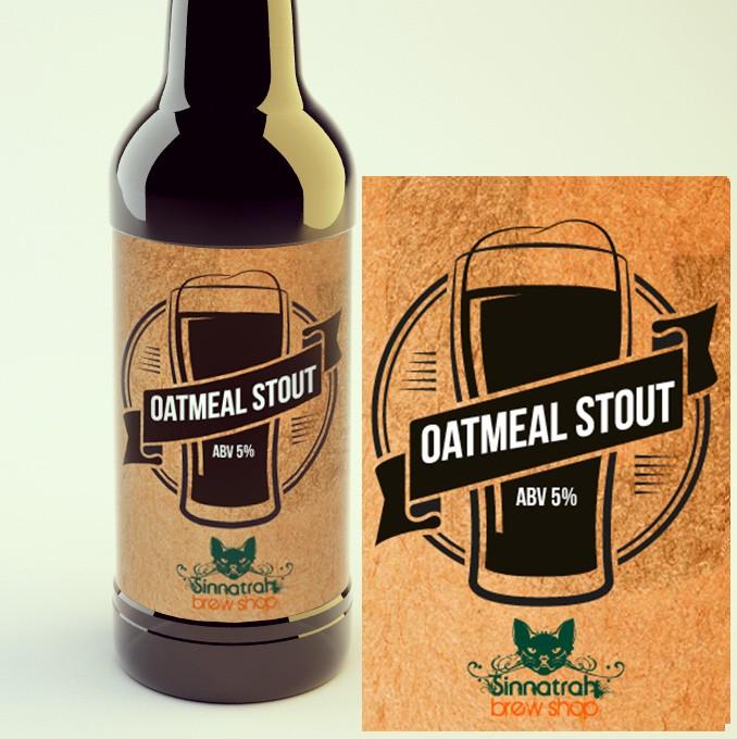 KIT para produção de 20 litros de cerveja do estilo Oatmeal Stout