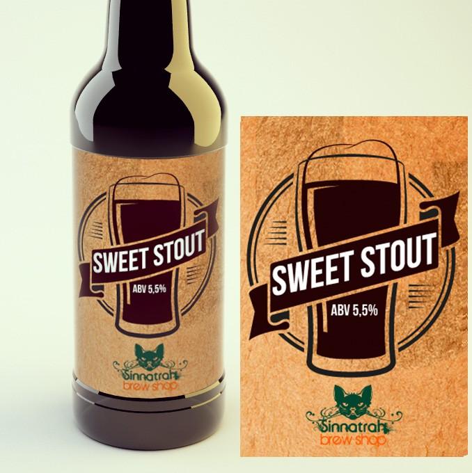 KIT para produção de 20 litros de cerveja do estilo Sweet Stout