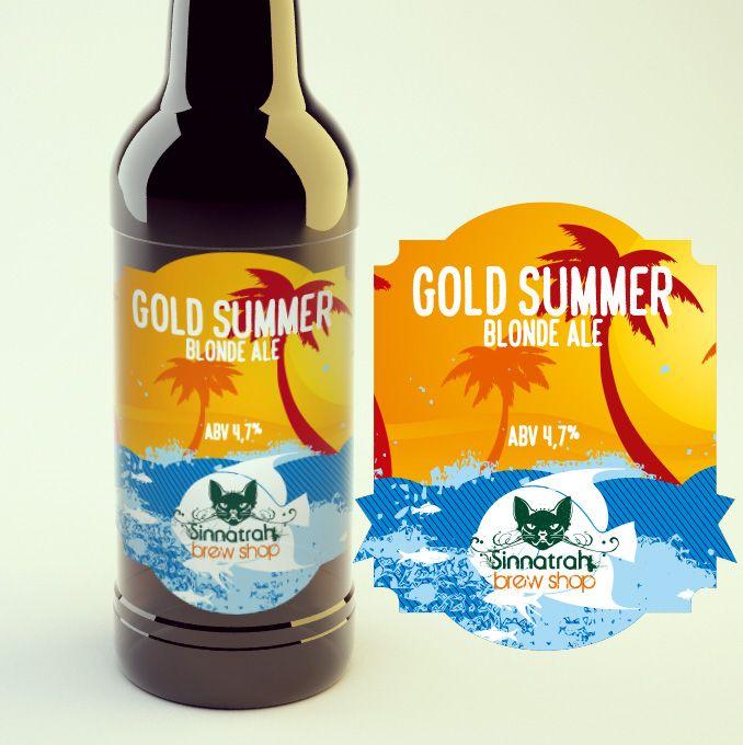 KIT para produção de 20 litros de cerveja Gold Summer