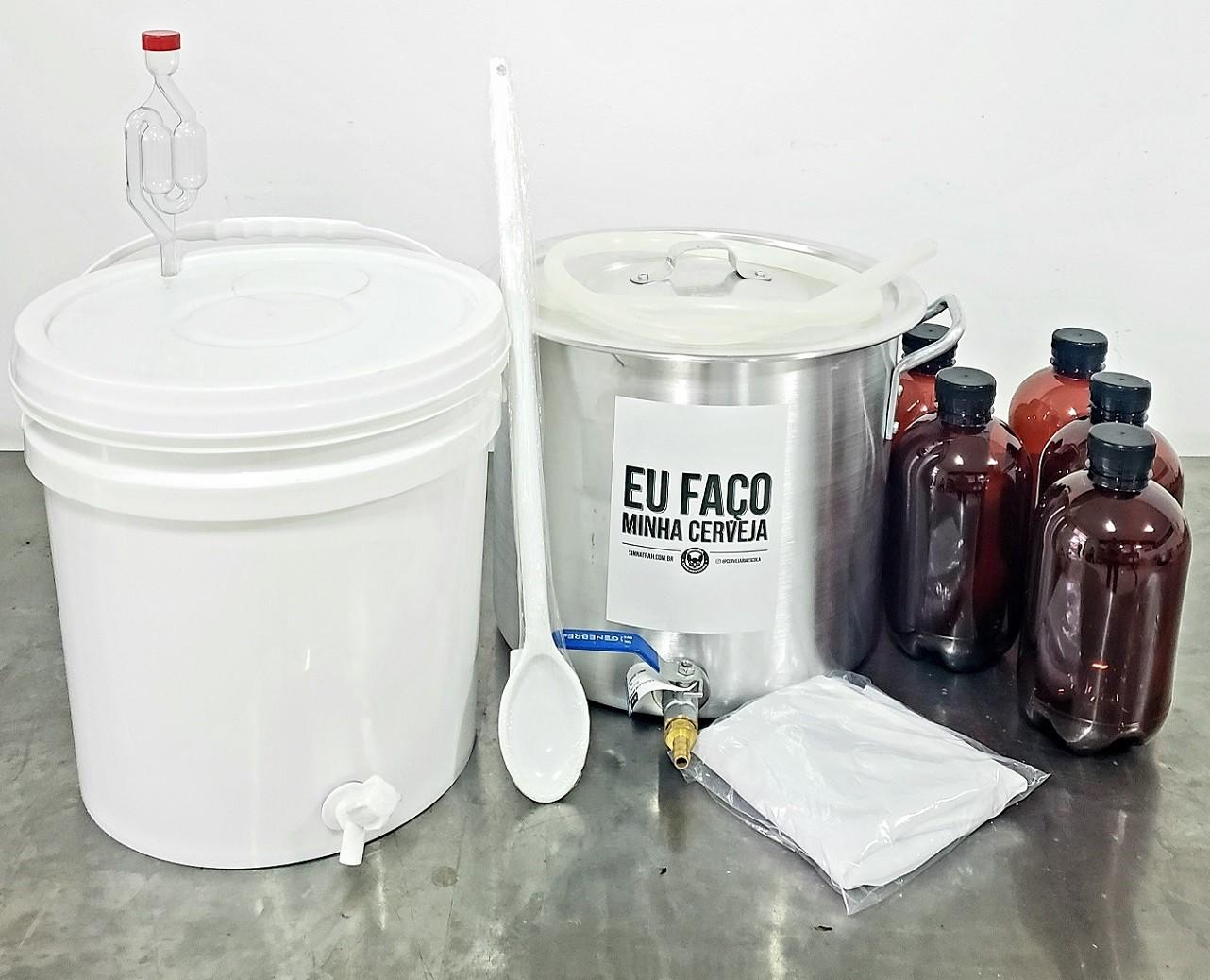 Kit para produzir cerveja em casa - 10 litros - Econômico