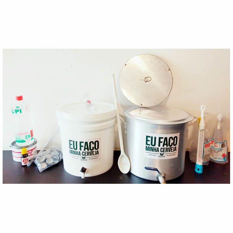 Kit para produzir cerveja em casa 10 litros Fundo Falso - Básico