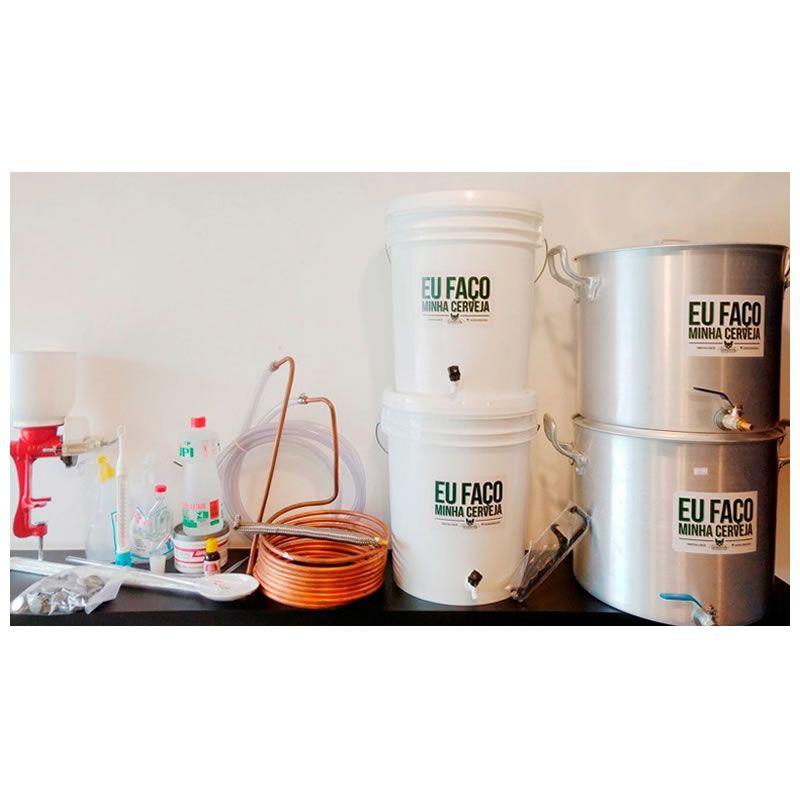 Kit para produzir cerveja em casa 20 litros Bazooka - Completo