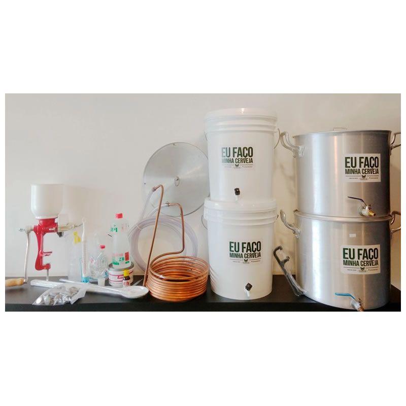 Kit para produzir cerveja em casa 20 litros Fundo Falso - Completo