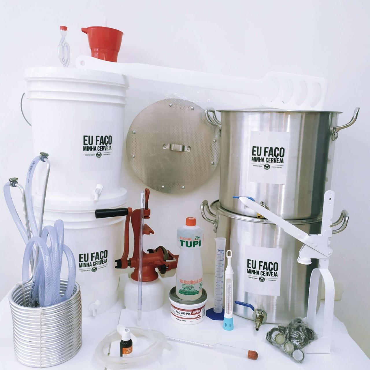 Kit para Produzir Cerveja em Casa 20 litros - Intermediário - Fundo Falso