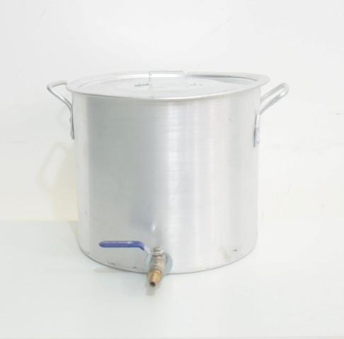 """Panela Cervejeira de Alumínio nº 28 com Válvula Extratora 3/8"""" - Volume 15L"""