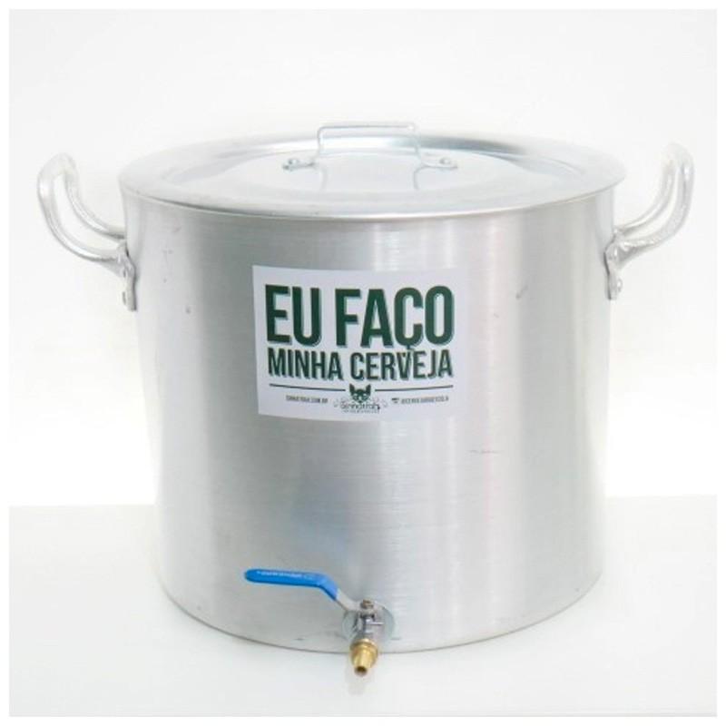 """Panela Cervejeira de Alumínio nº 36 com Válvula Extratora de 3/8"""" - volume 32L"""