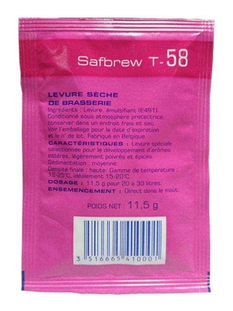 Levedura Safbrew T-58