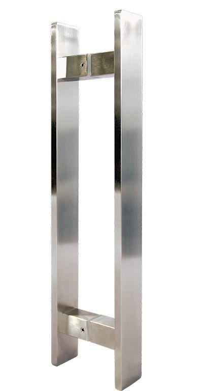 228963d72 ... Puxador para porta Duplo Plano em AÇO INOX ESCOVADO. Para portas  pivotante madeira  ...