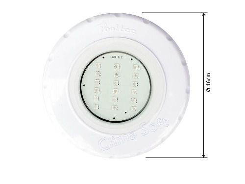 Kit Iluminação Piscina 3 Refletores Led Smd 18 Rgb + Comando