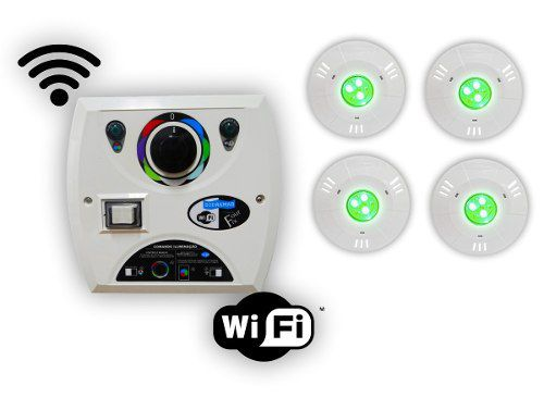 Kit 4 Hiper Led 9w Abs + Comando Four Fix Wifi Sodramar