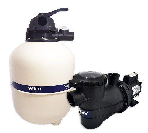 Kit Filtro Para Piscina V-30 + Bomba 1/3 Cv Veico