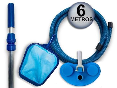 Kit Limpeza Piscinas Filtro Fms 13 E Bomba 1/3 cv Até 34 M³ Sodramar + Aspirador