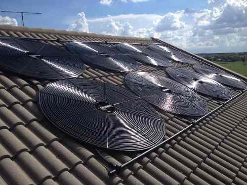 Aquecedor Solar Para Piscinas Ate 24m³ 6 Placas G1 Girassol + Controlador de Temperatura