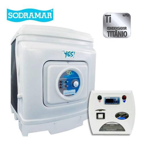 Trocador De Calor Sodramar Sd 80 Titanio + Quadro Digital