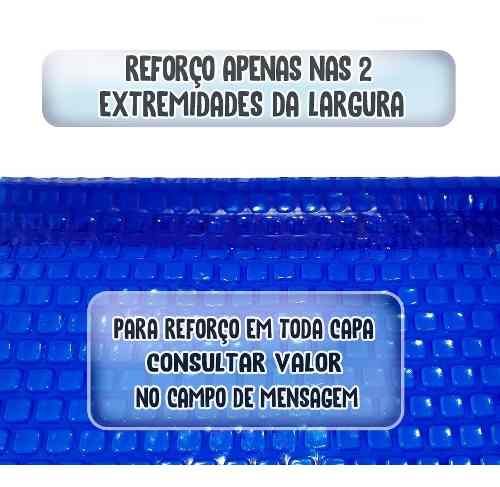 Capa Térmica Para Piscina 5,5 X 3,5m Bolha Borda Com Reforço