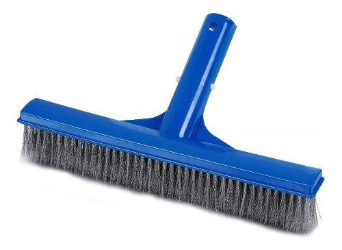 Escova Limpeza De Piscina Com Cerdas Em Aço Inox 25 Cm