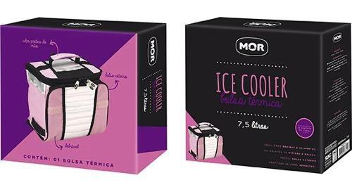 Bolsa Térmica Sacola Ice Cooler Para Praia Dobrável 7.5l Mor