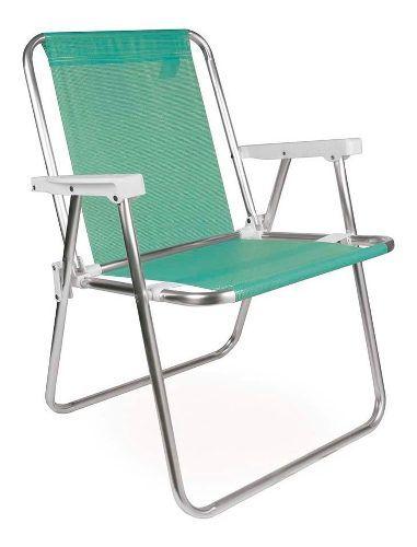 Cadeira Para Praia Piscina Dobrável Em Alumínio Mor Anis