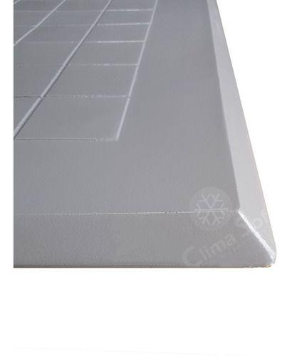 Tampa Para Casa De Máquinas Cinza Em Alumínio 70 X 70 Sem Grelha Articulada