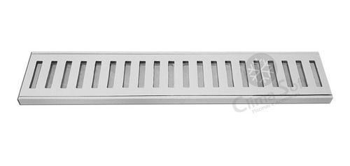 Ralo Linear 8 x 50 Cm Em Alumínio Branco Grelha Aro Caixilho GDA