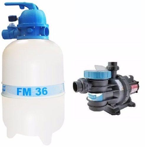 Kit Filtro Fm 36 Sodramar + Bomba Bm 33 Motor Weg 1/3 Cv
