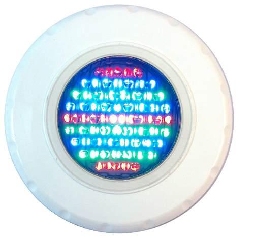 Kit Iluminação Para Piscina 1 Refletor Led 45 ABS Rgb (Colorido) + Comando com Controle Remoto + Fonte + Caixa de Passagem