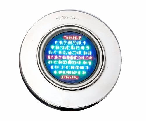 Kit Iluminação para Piscina 4 Led 65 Inox RGB Colorido + Comando e Controle Remoto + Caixa de Passagem - Até 36 m²
