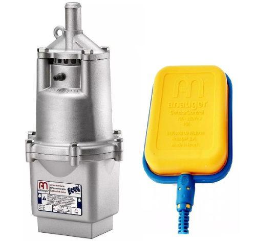 Bomba D´agua Submersa Vibratória Anauger Ecco 1400/hora + Chave Bóia de Nível 220 Volts