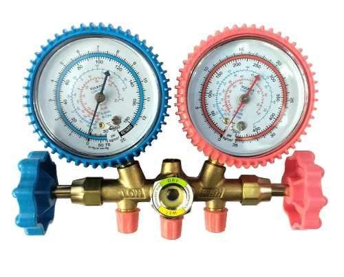 Conjunto Manifold para Refrigeração e Ar Condicionado R-12/R-22/R-134a/ R-404 Vulkan Lokring VCLT-636G