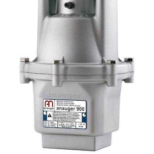 Bomba D´agua Submersa Vibratória Anauger 900 2300/hora + Chave Bóia Anauger 110V