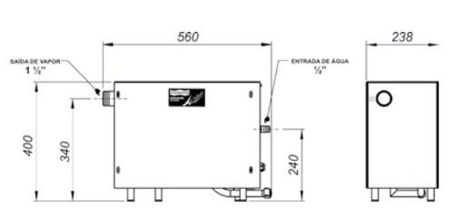 Gerador De Vapor Para Sauna Steam Inox Sodramar 6kw + Quadro