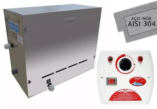 Gerador De Vapor Para Sauna Steam Inox Sodramar 9kw + Quadro