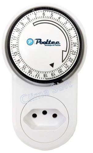 Kit Filtro para Piscinas V-30 Pooltec + Moto Bomba 1/3 CV Pooltec + Timer Analógico Pooltec