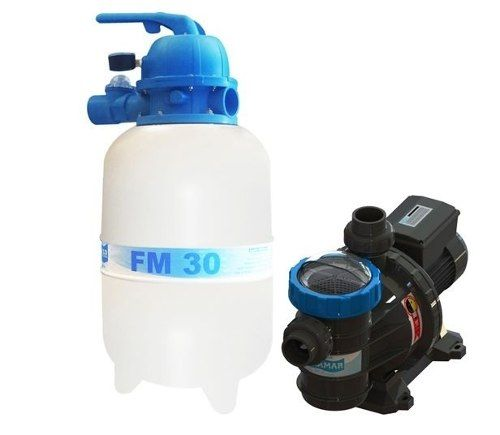 Kit Filtro Para Piscina Fm 30 + Bomba Bmc 25 1/4 Cv Sodramar Até 28 M³