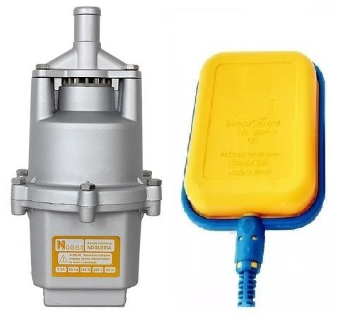 Bomba D'água Submersa Vibratória NOG 9.0 2300/hora 450W + Chave Bóia