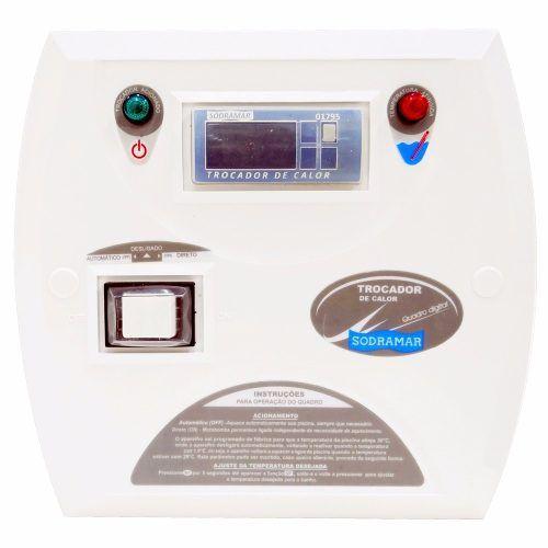 Trocador De Calor Aquecedor Para Piscina Sodramar Yes Sd 40 + Quadro de Comando Digital