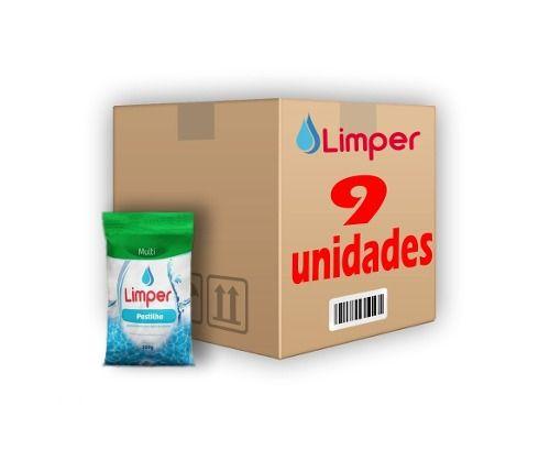 Pastilha De Cloro 3x1 Para Piscina 200g Limper 09 Unidades