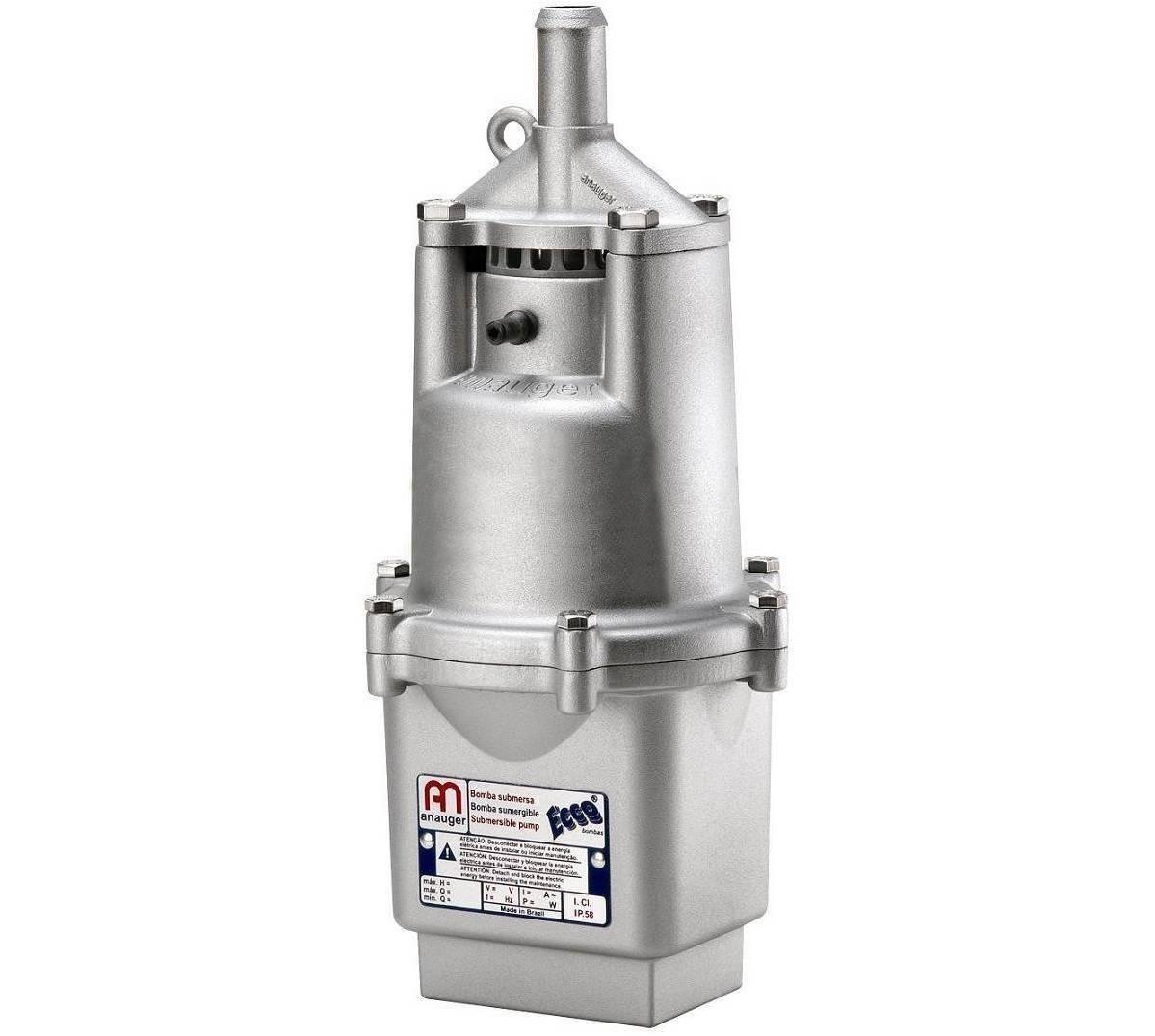 Bomba D´agua Submersa Vibratória Anauger Ecco 1400/hora + Chave Bóia de Nível 110 Volts